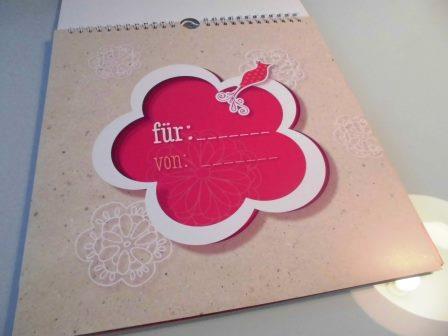 Gebt eurem Kreativ-Kalender eine persönliche Widmung