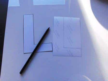 Aufgezeichnete Buchstaben-Kontur