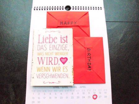 Design-Postkarte mit Liebesbotschaft
