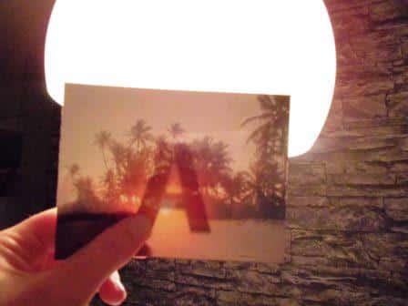 Fotoalbum gestalten mit auf Fotos aufgemalten Buchstaben