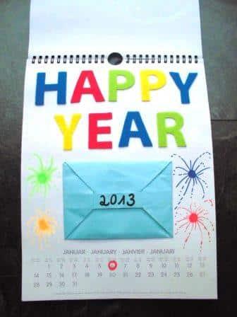 Kalenderseite Januar - Happy (New) Year!