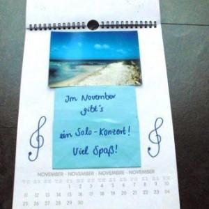 Kalenderseite zum Thema Konzert