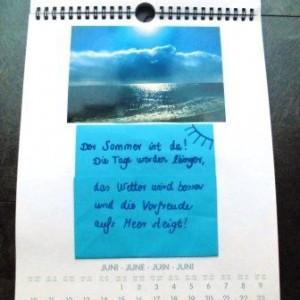 Kalenderseite zum Thema Sommer