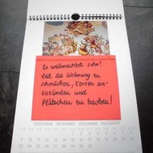 Kalenderseite zum Thema Weihnachten