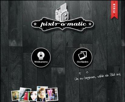 Startseite von pixlr.com o-matic