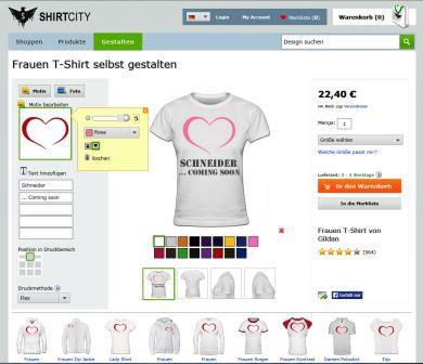 Damen T-Shirt selbst gestalten bei shirtcity