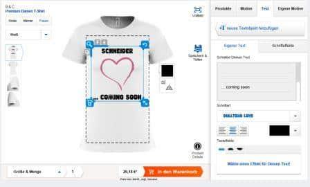 Damen T-Shirt selbst gestalten bei shirtinator