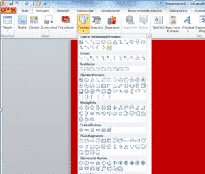 Microsoft PowerPoint 2010 Formen einfügen