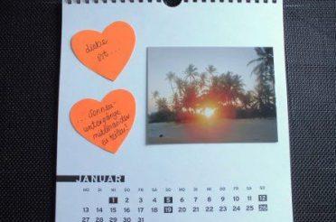 """Persönliches Hochzeitsgeschenk: """"Liebe ist…"""" Kalender selber machen"""