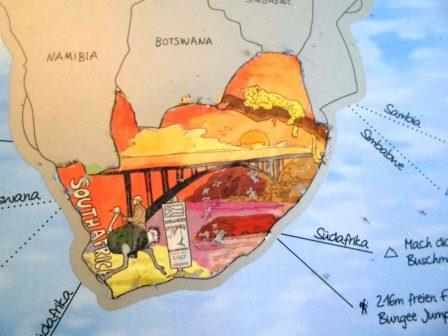 Rubbel Weltkarte Südafrika