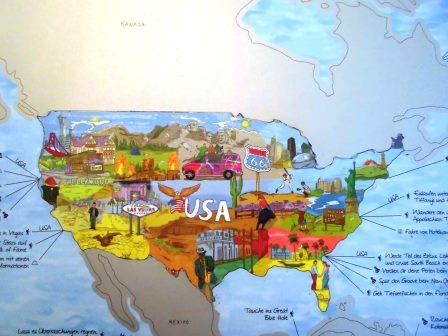 Rubbel Weltkarte USA