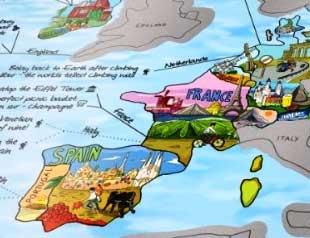 Rubbel Weltkarte – Geschenkidee für Reiselustige