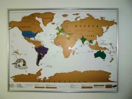 Rubbel Weltkarte