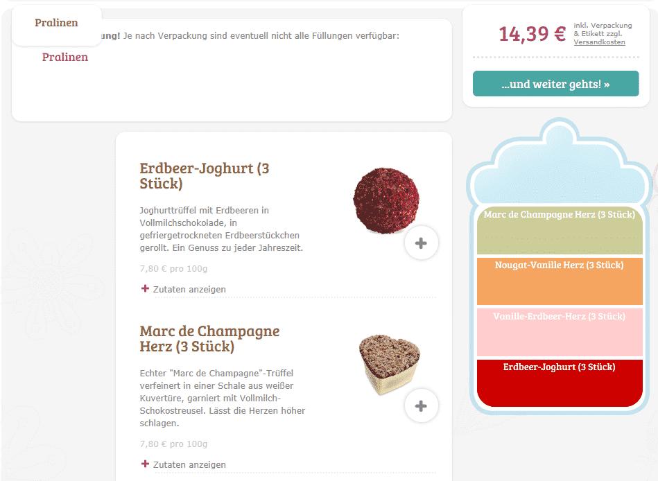 Schokolade mit Foto - Auswahl individueller Pralinen für Eure Pralinenbox