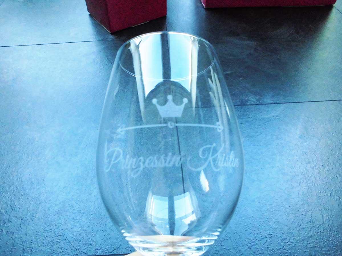 Weinglas mit Gravur - Noch ohne Füllung ;-)