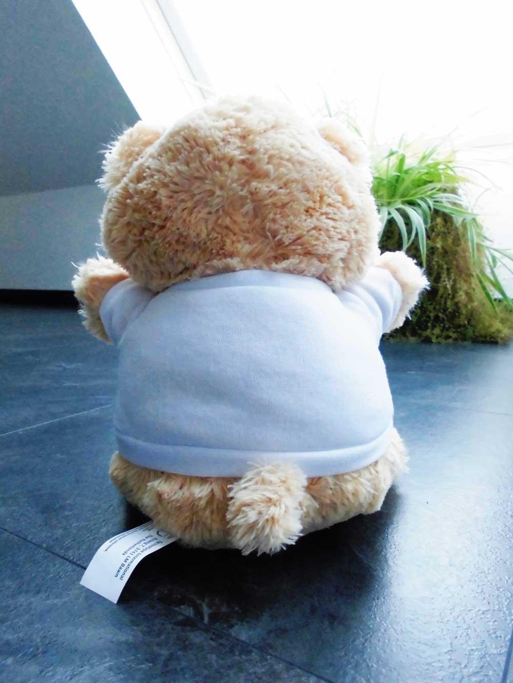 Die freie T-Shirt Rückseite Eures Teddybären mit Foto