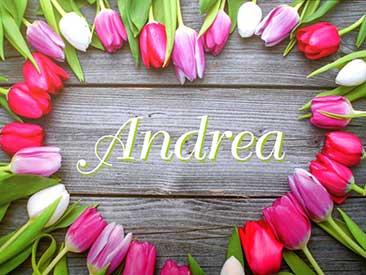 Personalisierte Milka mit Namen im Tulpen Design