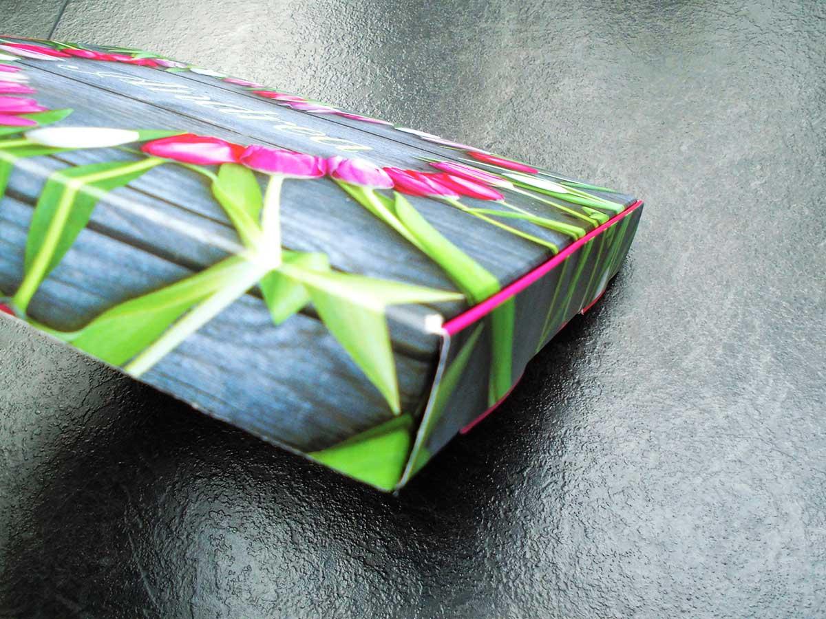 Seitenansicht der personalisierten Milka Schokoladen-Verpackung