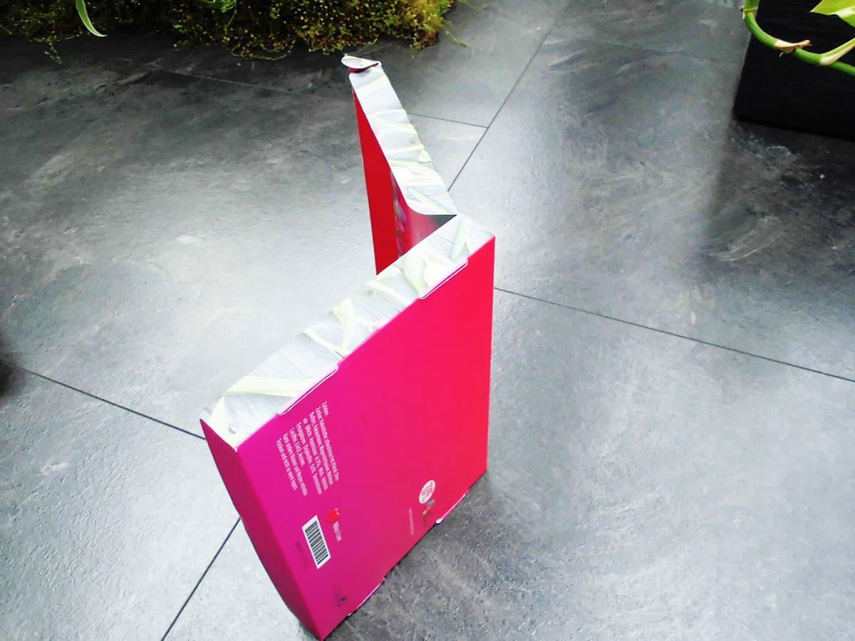 Unterseite der personalisierten Milka Schokoladen-Verpackung