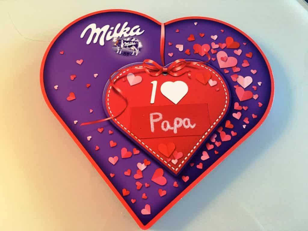 I love Milka Herz personalisiert