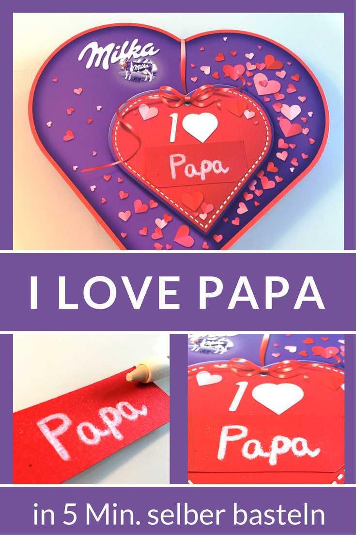 I love milka personalisieren ein sch ner liebesbeweis - Geschenkideen fa r papa zum selber machen ...
